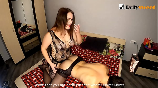 Nice girl wants to be a strapon mistress and fuck a guy (spanking, first time, comments at the end)