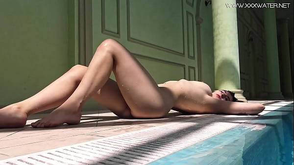 Sheril Blossom gets very horny by the pool