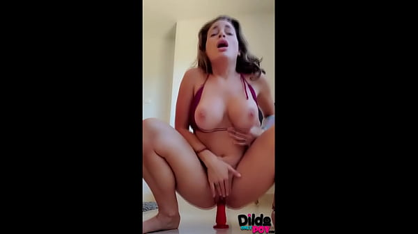 DildoOnlyPOV - TEEN STEP SISTER RIDING HER DILD...