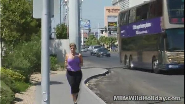 Busty Blonde gets fucked after a jog