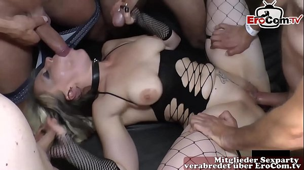 Extrem german cum creampie sexparty with german bitches no condom