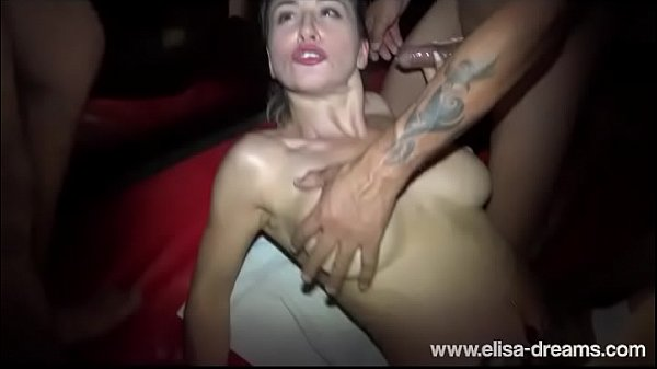 Striptease and Gangbang in a Club