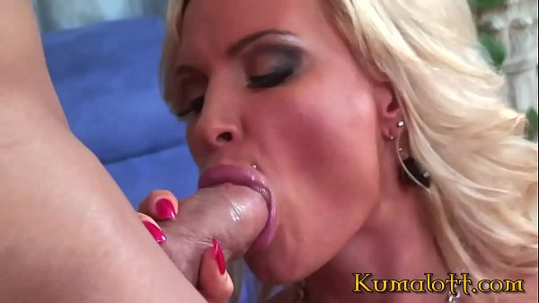 Blonde Milf with Big Tits Jumps on Giant Cock