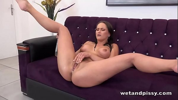 EXPLOSIVE orgasm for babe with big tits - Peeing Her Pants