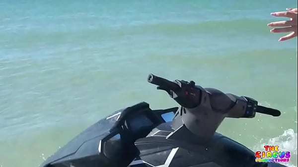 Two PAWGs eating pussy on a jet ski Thumb