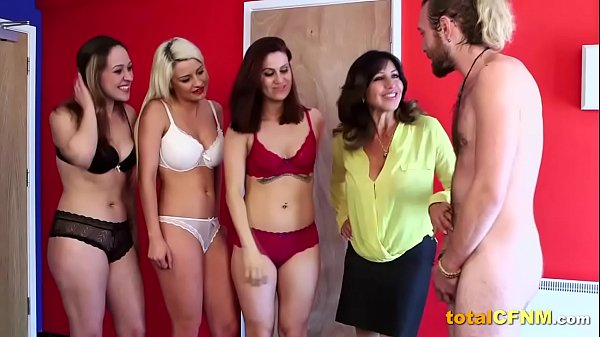 Four Hot Ladies Suck Hard and They Love Cum