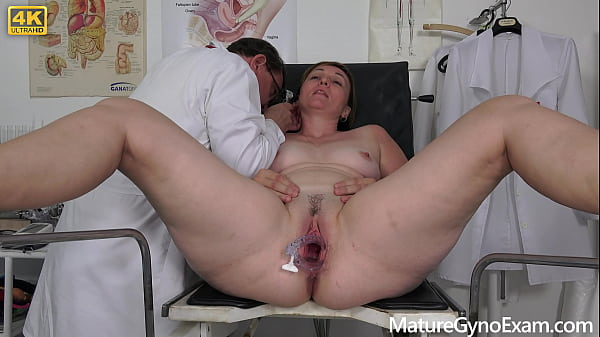Horny mature Rebel Angel on her old pussy exam