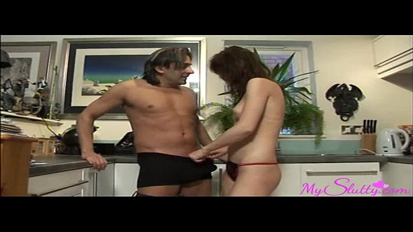 Horny Niece Gets her Uncle's Cock in The Kitchen