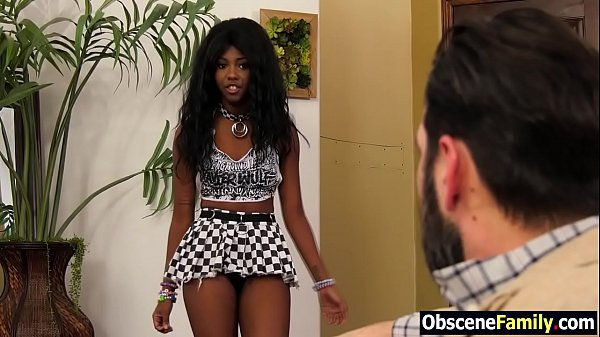Ebony step daughter begs white dad to fuck her ...