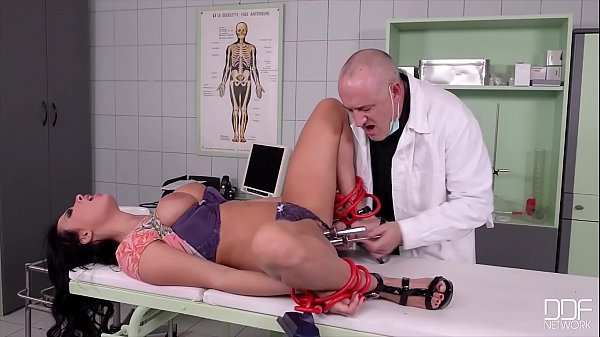 Submissive patient Tiffany Doll spanked and dom...