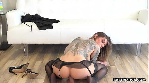 Solo cock teaser, Karma RX rides a huge dildo, in 4K