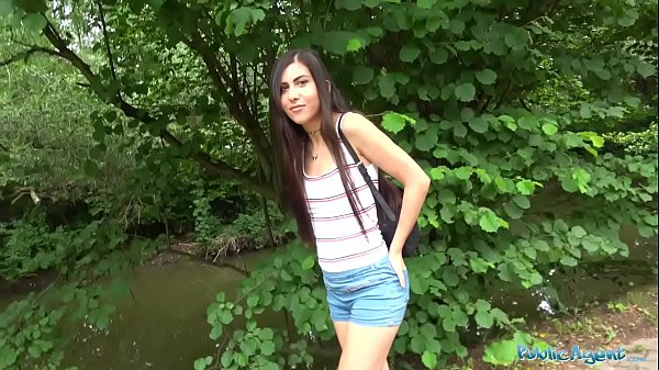 Public Agent Horny sexy tourist sucks and fucks in secluded forest