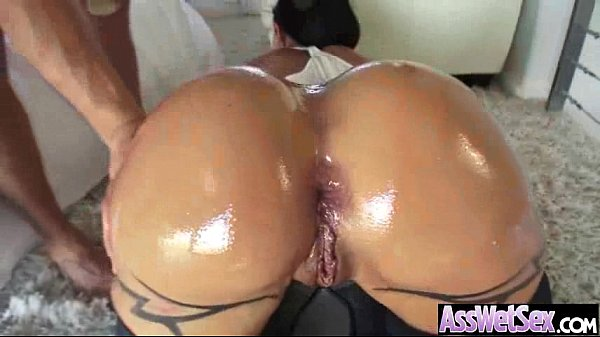 Big Butt Oiled Girl (jewels jade) Get Anal Hard...