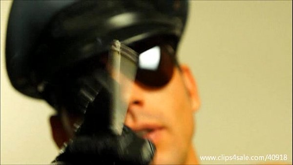 MUSCULAR COP SMOKES AND SPITS ON YOU - 135