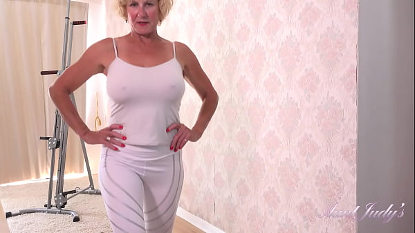 AuntJudys - 56yr-old Busty UK GILF Molly's Big Tit Workout