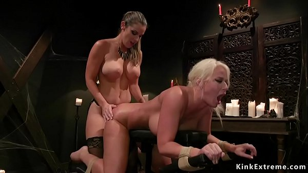 Lesbian Halloween party anal fucking