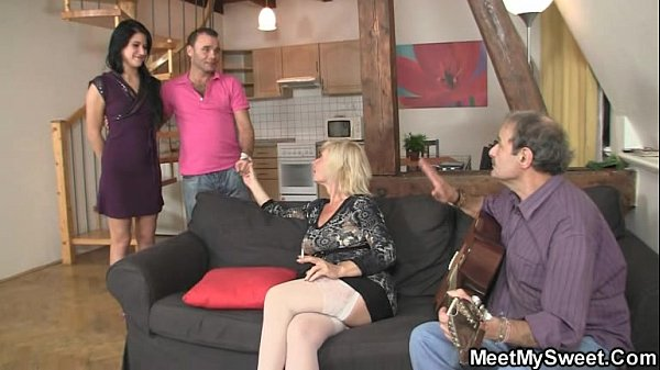 His olds lure her into family threesome