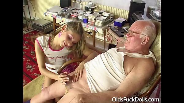 Grandpa Mireck bangs cute 18yo girl Rachel Evans Thumb