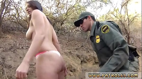 Xxx pawn cop Kayla West was caught lusty patrool during border