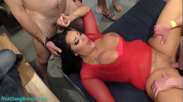 Ashley Cum Star in wild gangbang party
