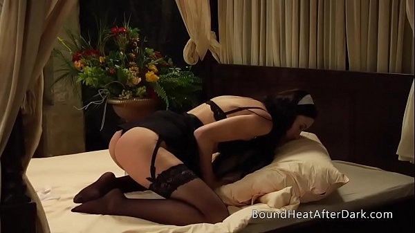 Lesbian Maid Orgasms On The Bed Thinking Of Her Dominant Madame