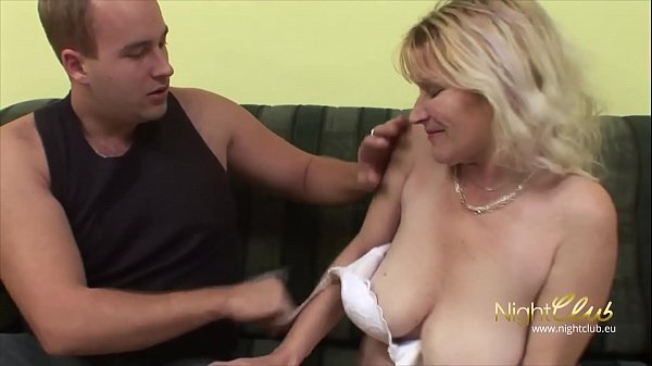 German - Old Wife with saggy tits blowing and f...