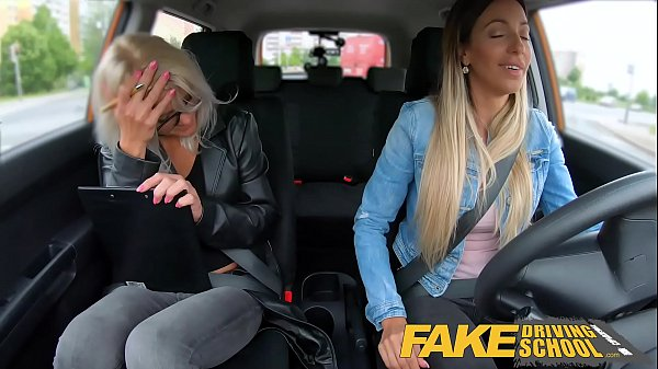 Fake Driving School Learner licks Kathy Anderso...