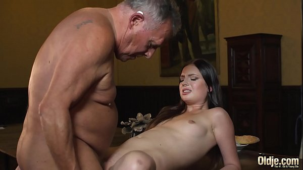 Young princess fucks the old butler in the hall...