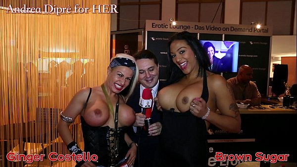 Ginger Costello and Brown Sugar shows her tits for Andrea Diprè Thumb