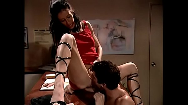 Beautiful receptionist in lace up shoes Liza Harper gets fucked hard