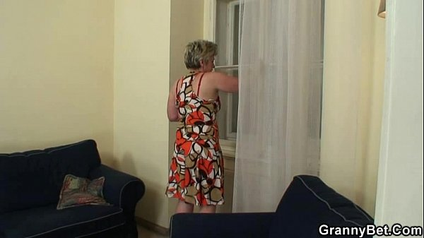 Lonely old widow takes big cock
