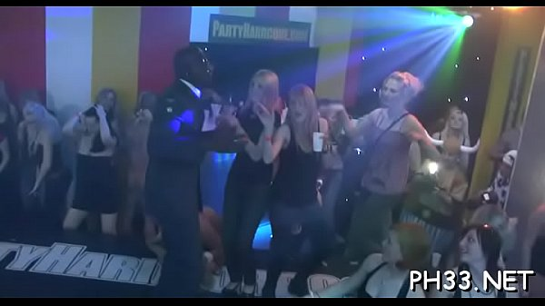 Yong girls in club are screwed hard by mature mans in arse and puss in time