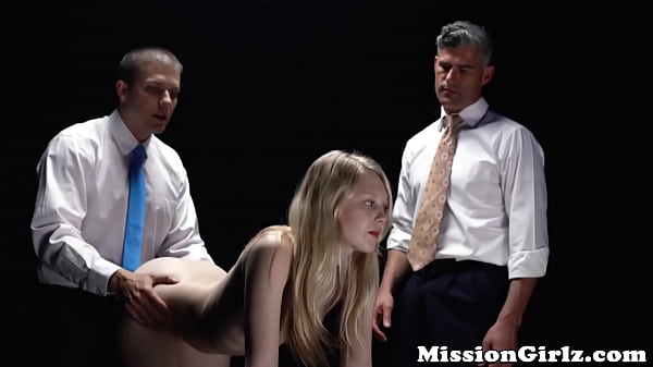 Fearful Mormon babe double fucked hard by two perverts