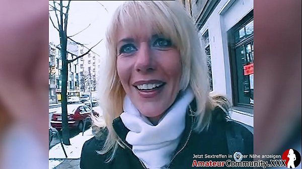 Skinny blonde MILF picked up & fucked in asshole