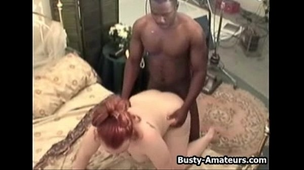 Busty Fiona getting fucked by black dude