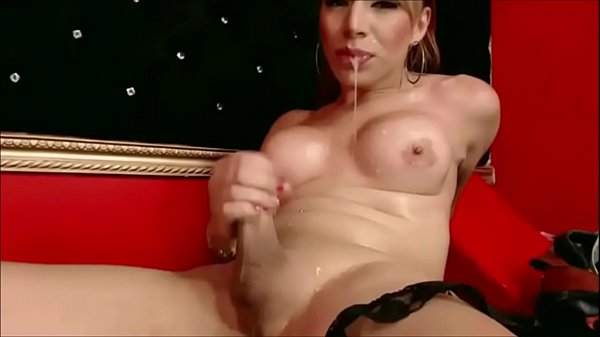 This Stunning Shemale Loves Self-Facials - Compilation