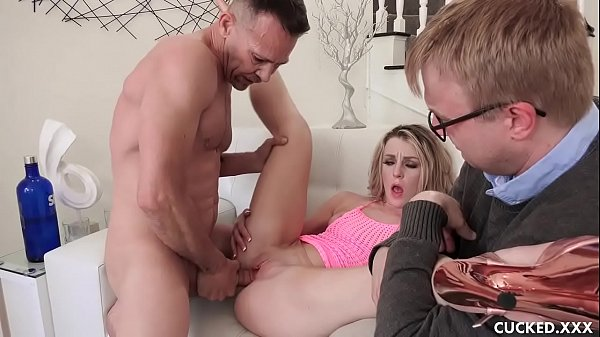Blonde Babe Cucks Her Husband and Gets Deepthroated and Fucked by a DJ