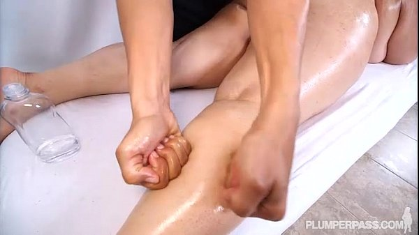 BBW Chevy Cobain is Oiled Massaged and Fucked