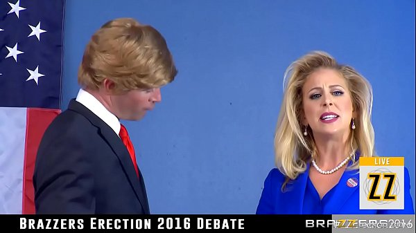Donald Drumpf fucks Hillary Clayton during a debate
