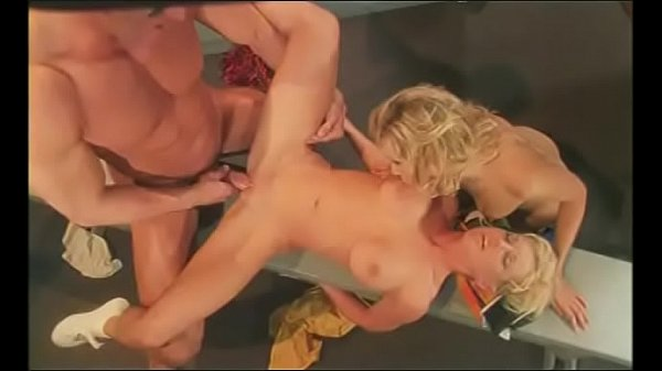 Guy with strong cock hard fucks two pretty chee...