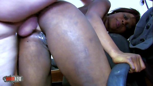 Petite Black slut hard anal fucking and squirting