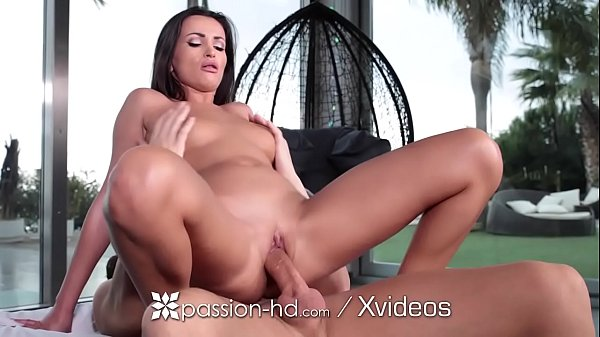 PASSION-HD Tan shaved pussy POUNDED by big dick