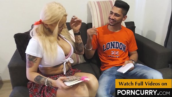 PORNCURRY Punjabi Teacher Randeep Singh with his European Student Aysha Rouge Thumb