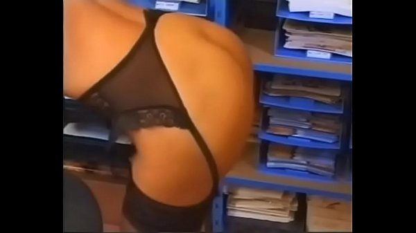 Sexy Blonde Secretary Teases and Plays