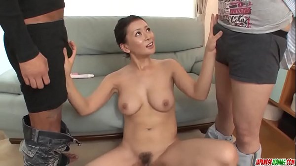 Rei Kitajima puts a lot of dick in her thirsty mouth - More at Japanesemamas com