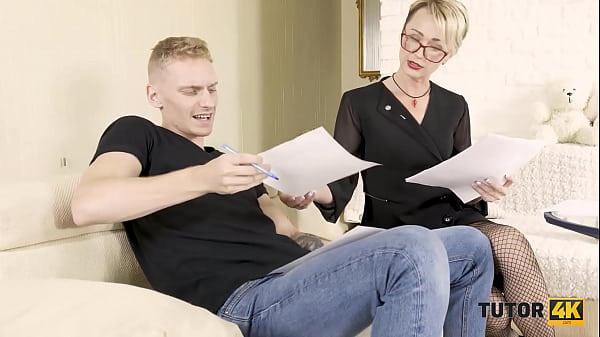 TUTOR4K. Teacher of Russian language to have hard sex with stud