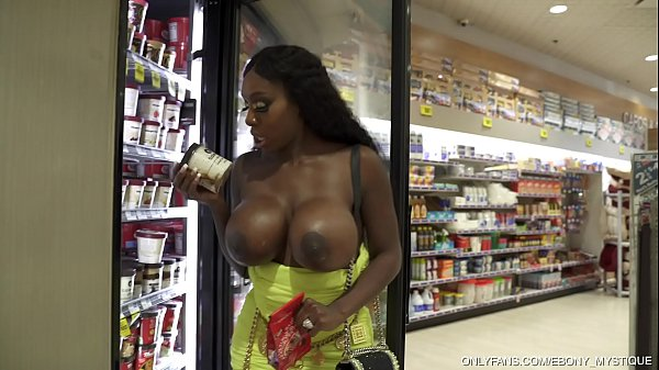 MYSTIQUE-BIG TITS IN PUBLIC 1