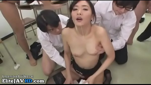 Japanese teacher in stockings loves face cumshots