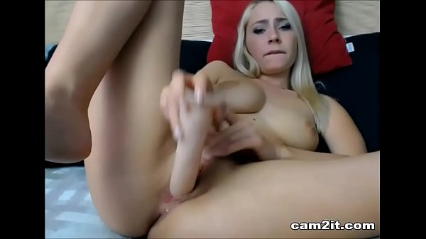 Natural Big Tits Blonde Dildoing And Fingering ...