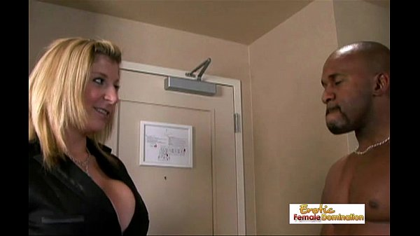 Apartment manager Sarah fucks a couple of black studs in a threesome